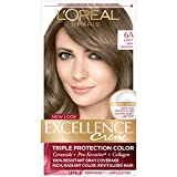L'Oreal Paris Excellence Creme Permanent Hair Color, 6A Light Ash Brown, 100 percent Gray Coverage Hair Dye, Pack of 1