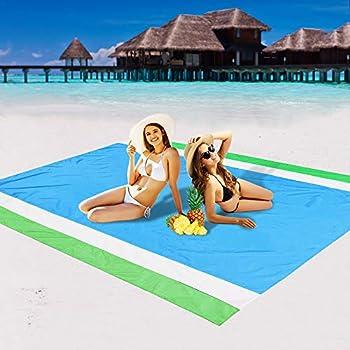 AISPARKY Sand Proof Waterproof Quick Drying Compact Beach Mat