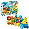 Mega Bloks Tren musical ABC, juguete de construcción para bebé + 1 año (Mattel FWK22) de Mattel