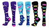 MadSportsStuff Good Kitty Socks Cat Lover Socks Combo Pack (3 Pack-Multi, Medium)