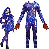 Disfraz Descendientes 3 Mal/Evie/Belle/UMA Halloween Navidad Niños Cosplay Costume Fin884 (130)