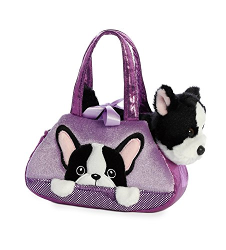 Aurora - Pet Carrier - 7' Peek-A-Boo French Bull Dog, Purple