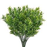 NAHUAA 4pcs Künstliche Pflanzen Grün Kunstpflanzen Außenbereich Plastikpflanzen Künstliche Grünpflanze Unechte Pflanzen für Balkon Garten Hochzeit Zuhause Bad Topf Frühling Dekoration