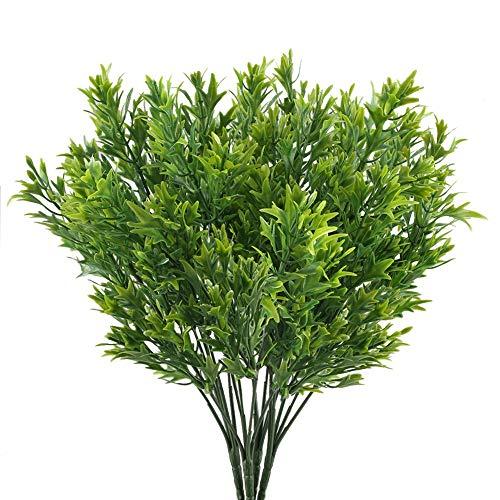 NAHUAA Plantas Verdes Exterior, 4pcs Plantas de Plastico Decorativo Arbustos Artificiales Arreglos...