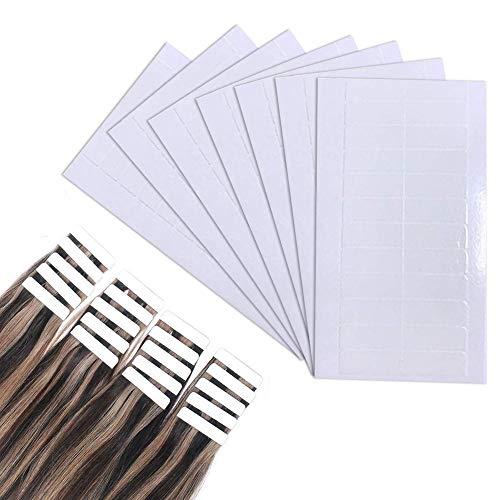 Kalolary 180 Stücke Ersatztapes Klebestreifen für Tape Extensions Hohe Klebekraft und Klebedauer, Weiß, 4x0,8 cm