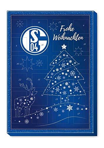 FC Schalke 04 3 x Adventskalender 2020 inkl. 3 Aufkleber Schoko Weihnachtskalender 2020 Bundesliga Fanartikel Fußball S04 (€4,97 a´100g)