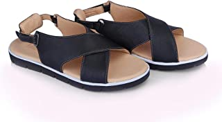 Leather Flat Sandal For Women