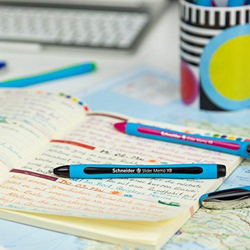 Schneider Slider Memo XB Ballpoint Pen, Asstd. Colors, Pack of 6 (150296) Photo #9