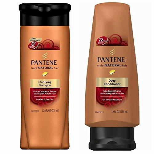 Pantene Pro-V Truly Natural Hair Clarifying Shampoo and Pro-V Truly Natural Hair Deep Conditioner...