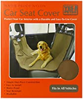 Yes Pets Oxford Waterproof, Tear Proof Hammock Style Car Seat Cover, 58-Inch by 51-Inch, Tan by Yes Pets