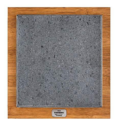 Placa de piedra volcánica Basic 20 x 20 cuadrada apta para cocina directa a la mesa