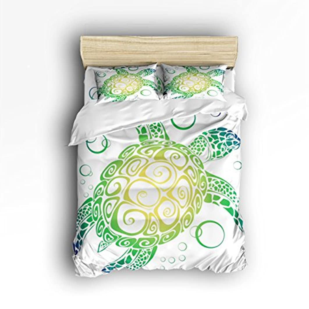 Vandarllin King Size Bedding Set- Sea Turtles Duvet Cover Set Bedspread for Childrens/Kids/Teens/Adults, 4 Piece 100% Cotton