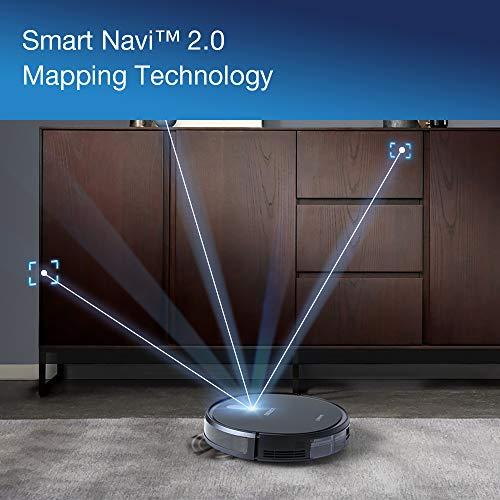 ECOVACS Robotics DEEBOT 715 Robot Robot aspirateur et Balai Puissant avec Fonction de Balayage - Robot aspirateur avec système de Navigation Alexa et Application
