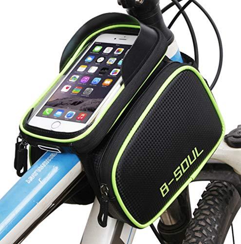 tangjiu Bolsa De Cuadro De Bicicleta,Bike Front Beam Bag Impermeable 6.2 Pulgadas Bolsa para Teléfono Móvil Mountain Road Cycling Toolkit