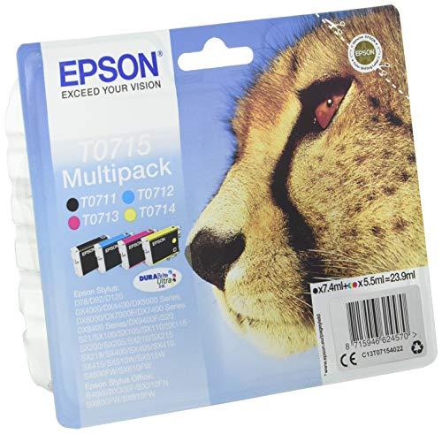 Epson C13T07154022 - Cartucho de tinta, multi-pack (negro, amarillo, magenta, cian)