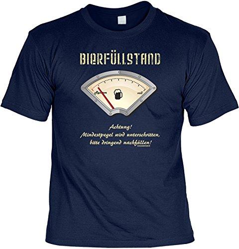 Unbekannt Proverbes T-shirt humoristique bière remplissage Respect Fun - Bleu - 48