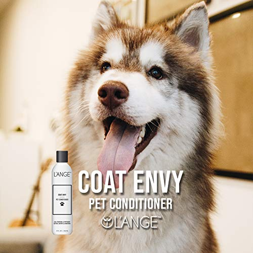 Lange Hair Coat Envy Pet Conditioner – Moisturizing Pet Conditioner for Dog & Cat Hair, Anti Itch Formula with Aloe for Dry Skin and Fur, Allergies & Sensitive Skin – 8 FL OZ