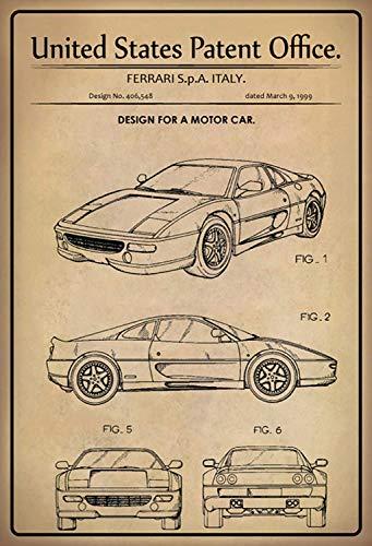 US United States Patent Office Auto Ferrari 355 Letrero