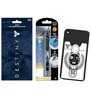 Destiny Video Game Party Favors Bundle - 3 Pc Destiny Party Supplies Destiny Decal Sticker Destiny Wallet for Phones Destiny Pen  Destiny Party Decoration Set