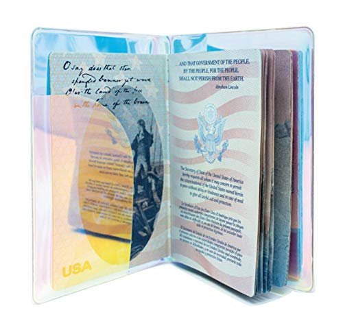 Holographic Travel Passport Cover (Silver)