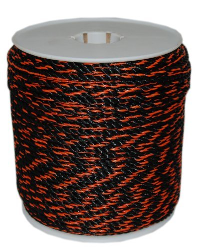 T.W . Evans Cordage 80-026OB 3/8-Inch by 600-Feet California Truck Rope, Black and Orange by T.W . Evans Cordage Co.