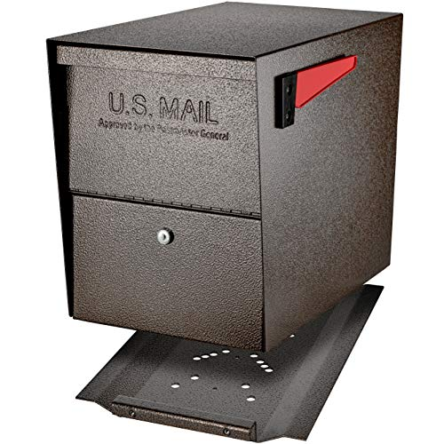 Mail Boss 7208 Package Master Curbside Locking Security Mailbox   Bronze,Medium
