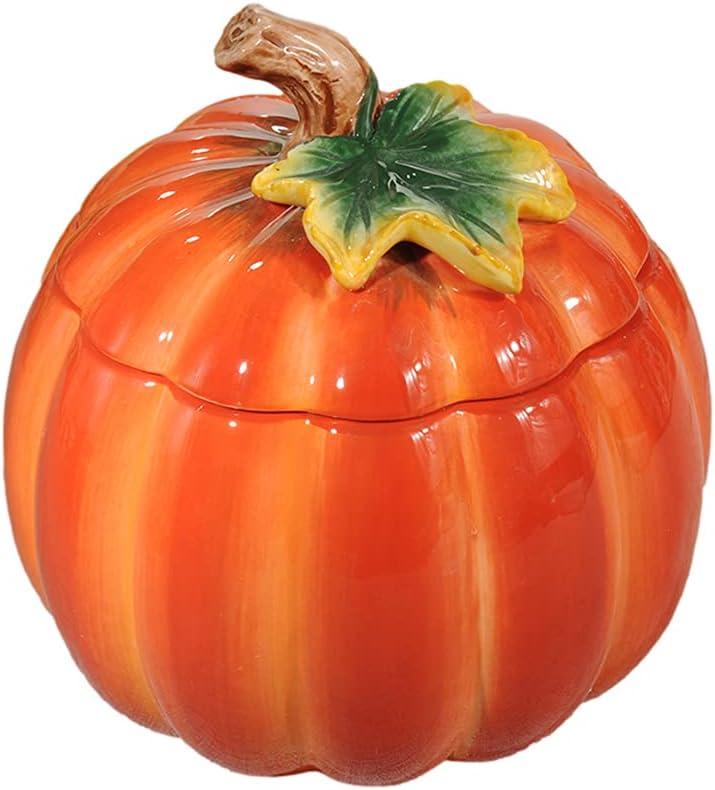XLSQW Ceramic Pumpkin Kansas City Mall Storage 5 popular Jar Candy Sugar
