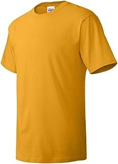 Hanes mens 5.2 oz. ComfortSoft Cotton T-Shirt(5280)-GOLD-XL-5PK