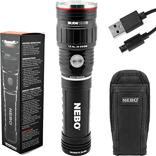 NEBO SLYDE KING 500 Lumen Rechargeable LED Flashlight Bundle with SLYDE Holster