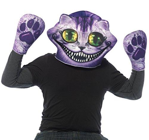 Leg Avenue 24 142,7 cm Cheshire Masque en Mousse Assorti et Pattes Gants Hommes de déguisement (Taille Unique, 2 pièces)
