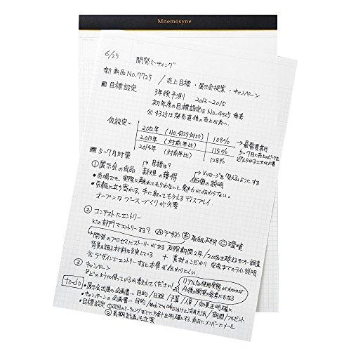 マルマンノートパッドニーモシネA4方眼罫N187A