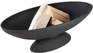 Esschert Design Feuerschale, Feuerstelle oval, ca. 78 cm x 37 cm x 26 cm