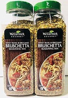 McCormick Gourmet Bruschetta Seasoning Mix, Sweet Basil & Oregano 19 Ounce (Pack of 2)