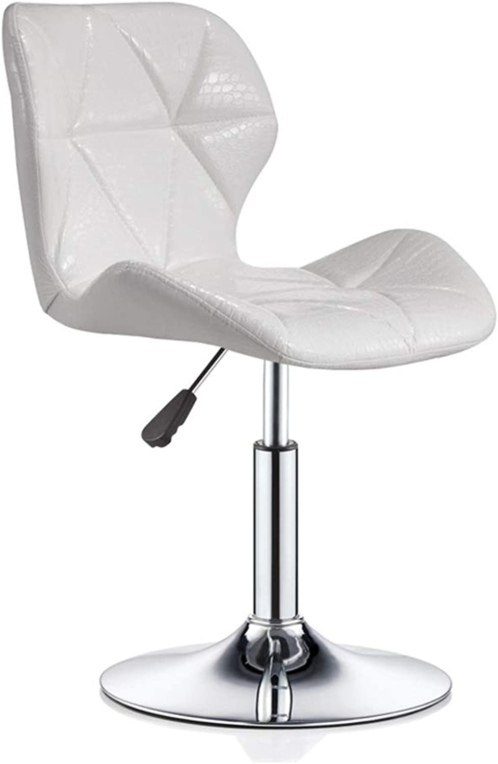 White Front Desk Chairs Office Chair Barstool 360 Degree redatable Bar Chair with Adjustable Height High Stool Artificial Leather Cushion (color    1)
