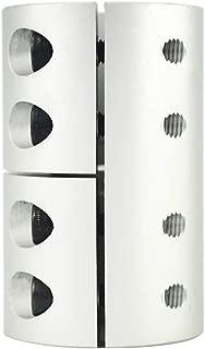 HEFUTE Diameter 32mm Length 45mm Clamping Rigid Coupling Aluminum for Engraving Machine Shaft Coupler Motor Connector - (Multi Size Inner Diameter: 10mm to 12.7mm)