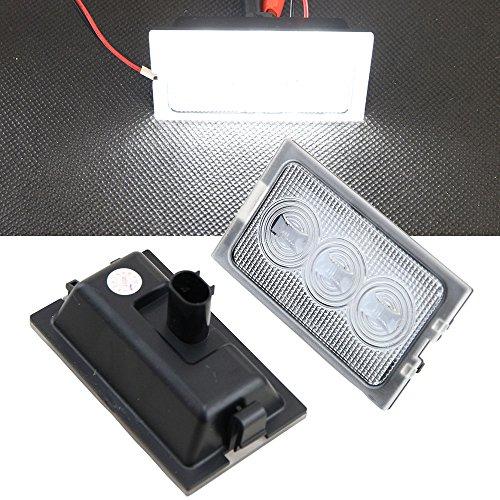 Nslumo 2 pcs Blanc Canbus 18 LED de porte de courtoisie Lampes Lampes LED Automotive Parking lampe