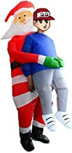 Akiimy Christmas Inflatable Santa Costume Blow Up Santa Dress for Christmas Party/Christmas Decoration /Cosplay/Birthday Cosplay Fancy Dress up Suit (Christmas Santa Claus Costume)