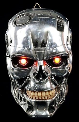 Original Terminator Schädel - LED Wandrelief Figur