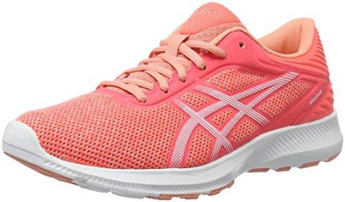 Asics Nitrofuze, Zapatillas de Running para Mujer, Naranja (Peach Melba/White/Flash Coral), 39 EU