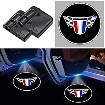 2Pcs For Camaro Wireless Car Door Logo Light LED HD Welcome Courtesy Ghost Shadow Projector Lamp Fit for Camaro Cars