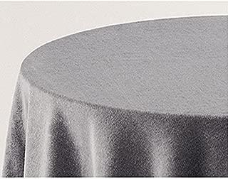 Falda para Mesa Camilla Modelo Deluxe 793, Color Gris 710, Medida Redonda 90/233cm Ø (También Disponible en Distintos Colores, Formas y Medidas)
