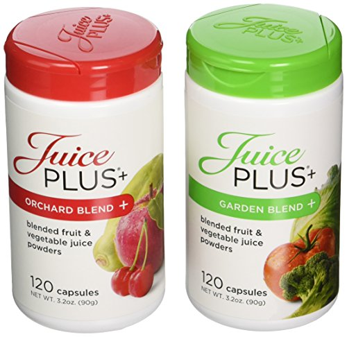 Juice Plus+ Orchard Blend & Garden Blend Capsules 3.2 oz. (1 Bottle Each/120 Capsules)