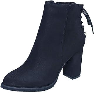 Nicircle ブーツ ブーティー ハイヒール シューズ レディース 秋冬 厚底 スノーブーツ 美脚 アウトドア ファッション 2018セール 通勤 普段着 Women Fashion Shoes Winter Boots