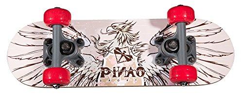 PiNAO Sports - Mini-Skateboard XXS Eagle-Design für Kinder, kleines Kinder-Skateboard (11051) [PP-Achsen und -Base, Deck aus 9-lagigem Ahornholz, PVC Rollen, 608Z Kugellager]