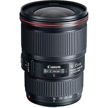 Canon Zoomobjektiv EF 16-35mm F4L IS USM Ultraweitwinkel für EOS (77mm Filtergewinde, Bildstabilisator) schwarz