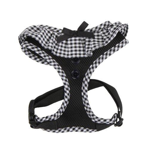 Puppia PALA-AC860 Hundegeschirr, Vivien, Größe XS, schwarz