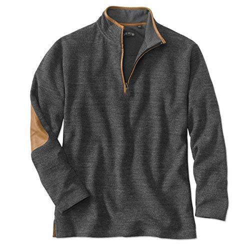Orvis Simoom Tweed Quarter-Zip Sweatshirt, Charcoal, Large