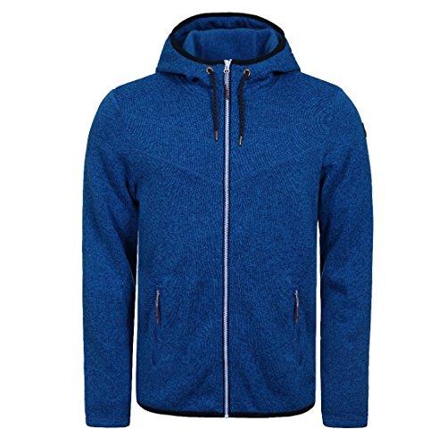 Icepeak Lew Strickfleece Jacke für Herren mit Kapuze, Größe:(3XL) XXXL;Farbe:Blau