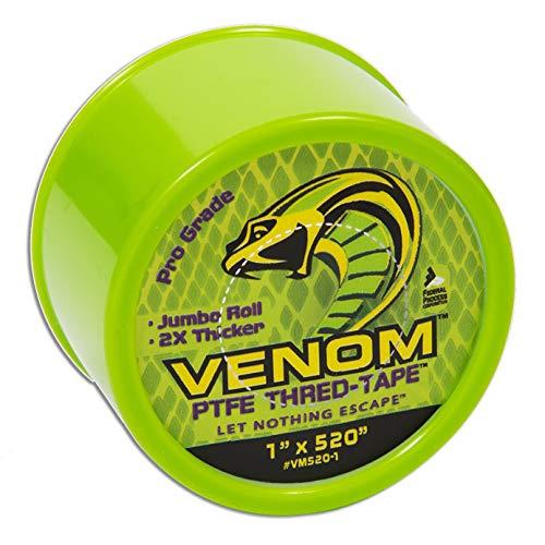 Venom PTFE - Cinta de rosca universal PTFE, 2,54 cm de ancho x 547 cm de largo.