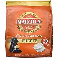Marcilla Senseo Fuerte - 28 Monodosis - Pastillas superior de café - 194 g
